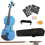 Mendini MV-Blue Violine Geige mit Koffer