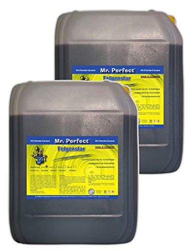 Mr. Perfect® Felgenstar, Felgenreiniger Konzentrat für Alu & Stahlfelgen, Säurehaltige Felgenpflege - 2 x 5 Liter