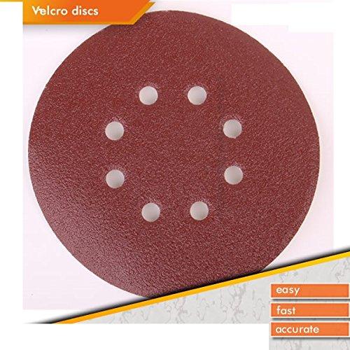 50x Random Orbit Sanding Discs Velcro Sand Paper Diameter 180mm 8hole P40P240 Test