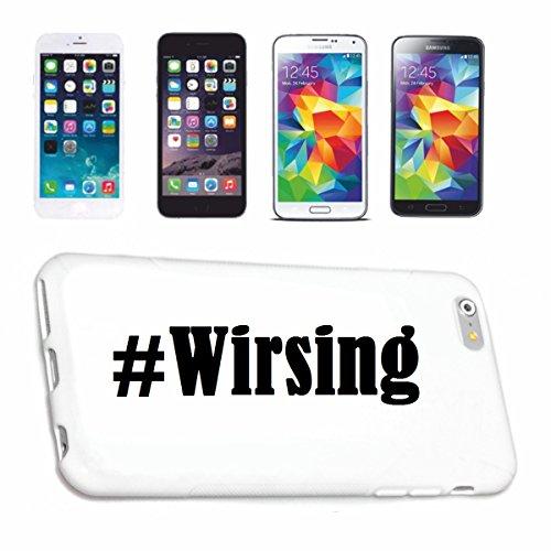 Handyhülle Samsung S8+ Plus Galaxy Hashtag #Wirsing im Social Network Design Hardcase Schutzhülle Handycover Smart Cover für Samsung Galaxy Smartphone in Weiß Schlank und schön, das ist unser HardCas