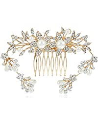 Prita Gold Plated Floral Hair Comb for Women
