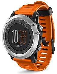 Para Garmin Fenix 3 HR,Xinan Correa de Reloj de Silicona Suave con las Herramientas (Naranja)
