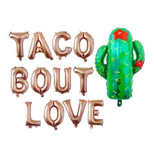 Amosfun Taco Bout Love Mexikanische Fiesta Luftballons Kaktus Luftballons mexikanischen themengeburtstag Baby Shower Party Dekoration Lieferungen