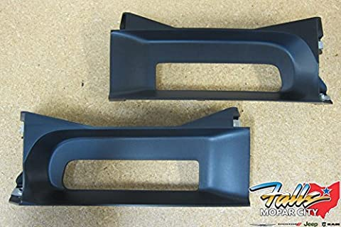 Dodge Ram 1500 Front Left & Right Side Tow Hook Bezel Kit OEM Mopar by Mopar