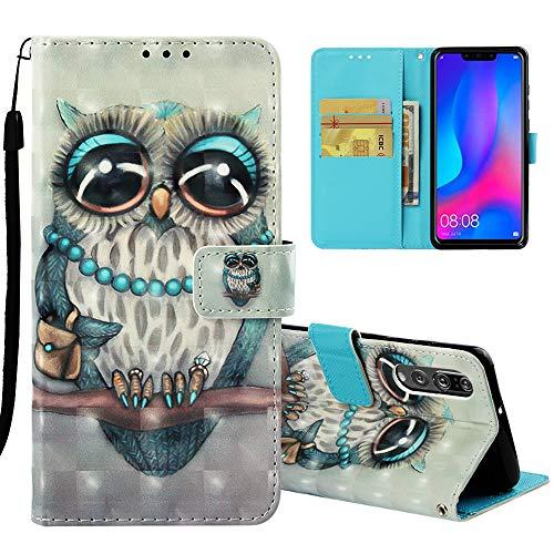 Roreikes Case for Huawei P30 Hülle,3D-Muster Brieftasche Schutzhülle Etui Fall Magnet Handytasche PU Leder Flip Tasche Cover mit Karteneinschub und Ständer Bumper Compatible für Huawei P30 Muster Fall