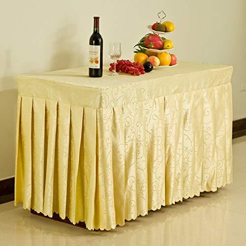 YT-ER Tischdecken - Einfamilienhaus Haushalt Hotel Tischdecken Konferenztischdecke Bankett-Tischkleid Ausstellungsaktivitäten Tuchkleid mit Vielen Größen für Dinner-Picknick, 240 * 60 * 75 cm, 10