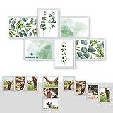 Kunststoff Bilderrahmen Fotorahmen Collage Zum Individuellen Gestalten 6X 13x18cm Weiß mit Normalglas und Klammern