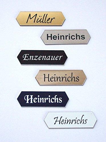 Schiefer T/ürschilder mit Gravur Gr/ö/ße ab 7x2 cm Namensschild Briefkastenschild selbstklebend//blank Klingelschild mit mehr als 80 Motive