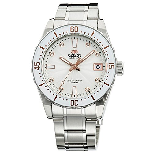 Watch Orient for Women, Automatic in steel with zirconia stones in the Field ac0 a002 W.