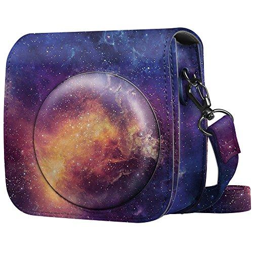 Fintie fujifilm instax mini 9 / mini 8 / mini 8+ custodia - protettiva pu borsa cover in pelle per fujifilm instax mini 8 8s / mini 9 fotocamera istantanea, galaxy