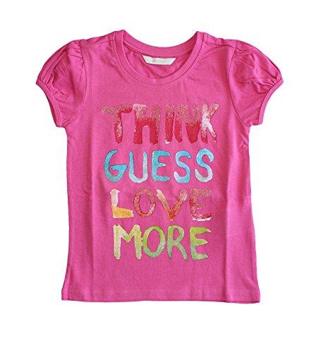 Guess Baby Mädchen (0-24 Monate) T-Shirt Gr. 3 Jahre, Rosa - Fuchsia