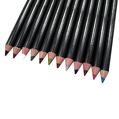 Contever® Cosmétiques Crayon 12 couleurs Étanche Eyeliner Crayon de Maquillage Cosmétiques Stylos Set