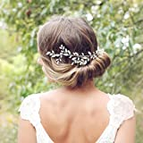 Chicer Wedding Crystal Hair Vines Bridal Headbands Accessories Headpieces Jewelry for Women and Girls(Silver)