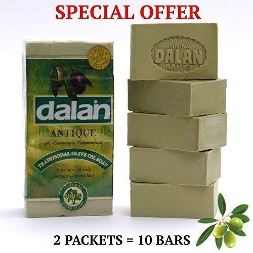 Naturel 100% Pure Huile D 'ol Ive Savon Dalan Turkish Bain Fait Main Dinde X 10 Barres