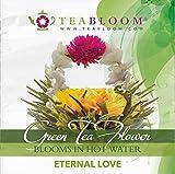 Teabloom Fiori di Tè - Gusti Eternal Love e Rising Spring - Confezione con 2 Fiori di Tè di Alta Qualità