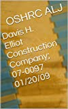 Davis H. Elliot Construction Company; 07-0097  01/20/09 (English Edition)