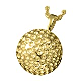 Memorial Gallery 3216 gp Sports Golf Ball Pendant 14K Gold/Sterling Silver Plating Cremation