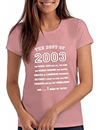 "Da Londra Girls The Best Of 2003"" 15th Birthday T Shirt Gift, 100% Soft Cotton"