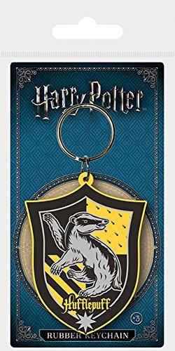 Harry Potter - Hufflepuff - Gummi Schlüsselanhänger Keyring - Größe ca. 4,5x6 cm 6 X 4.5 Film