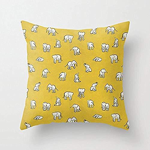 Dana34Malory - Fundas de Almohada Decorativas con diseño de Elefantes de bebé,...