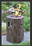 Gas Terrassenfeuer, Feuertisch Fuji ca. 48 x 50 x 70cm