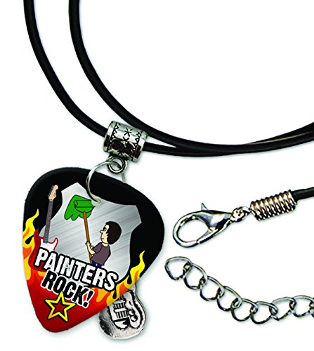 painter-painters-rock-guitar-pick-leather-cord-necklace-r1