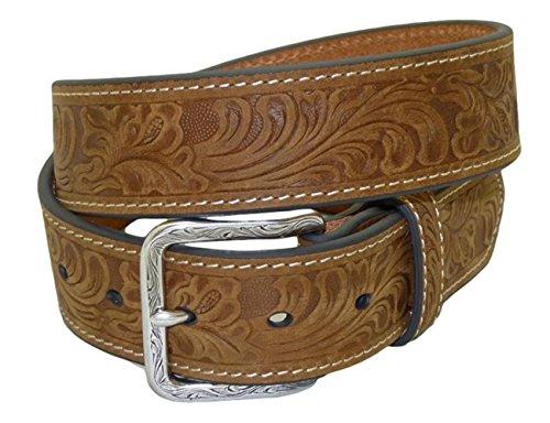 Nocona USA Western Gürtel floral tooled Cowboy Cowgirl 40