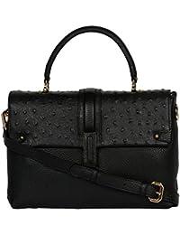 Da Milano Women's Leather Handbag (Black)