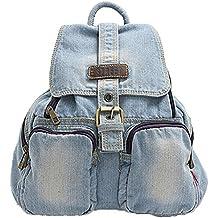 Donalworld - Bolso mochila  de vaquero para mujer M