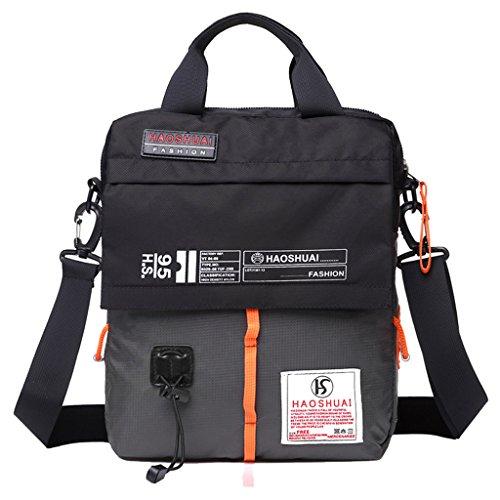 Supa Moden Herren Nylon Messenger Bag Cross-Body-Tasche Pack Organizer Umhängetasche Outdoor Wandern Pack 4. Sling Umhängetasche, Herren, grau (Nylon-messenger Sling)