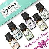 Ätherische Öle Geschenk Set für Valentinstag, Skymore Neue Generation 100% Natur Aromatherapie Öl 6×10ml Geschenkset (Lavendel Orange Minze Eukalyptus Teebaum Zitrone), Aroma Öle für Diffuser
