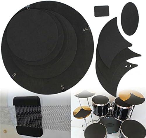 LaDicha 10Pcs Basse Caisse Claire De Bruit Éteint Muet Muet Muet Silencieux Drumming Caoutchouc Pratique Pad Set   Modèles à La Mode  72ba23