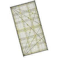 LYTIVAGEN Regla de Acolchado Transparente Acrílico, Regla con Líneas de Rejilla de Doble Color, Regla de Corte para Coser Costura de Dibujo DIY manualidades (11.8 x 6 Pulgadas)