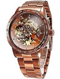 Alienwork IK Reloj Automático esqueleto mecánico Metal bronce marrón bronce marrón 98226G-D
