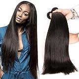 Daimer Straight Natural Weave 3 Paquets Tissage Cheveux Humains Péruvien en lot pas cher Naturel 24 26 28