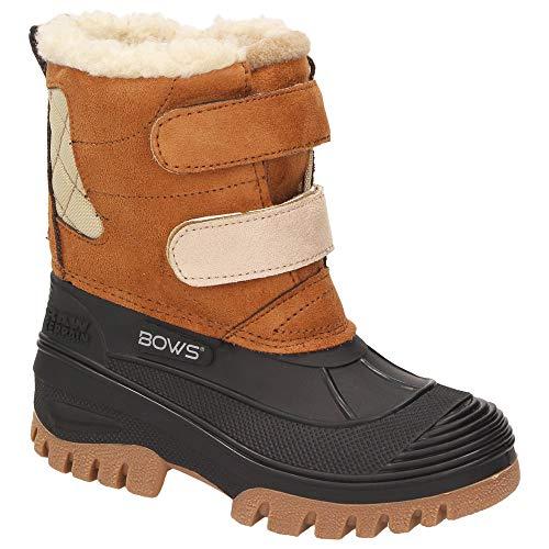 en Kinder Schnee Winter Stiefel Winterboots Schuhe Warmfutter wasserdicht wasserabweisend, Schuhgröße:31, Farbe:Camel ()