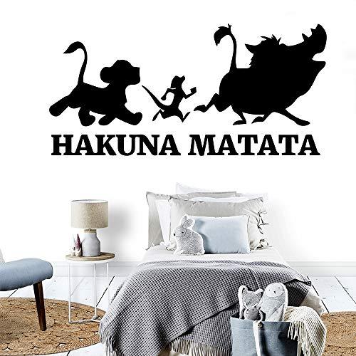 zxddzl Neue HakunaMatata Wandaufkleber Wohnkultur Dekoration Für Kinderzimmer Dekoration Wandtattoo Aufkleber Muraux-155x75cm