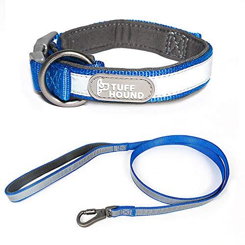 erende Nylon Hundehalsband und Leine Set 3 Farben Small Medium Big Hundehalsband Haustiere Leinen,Blue,L ()