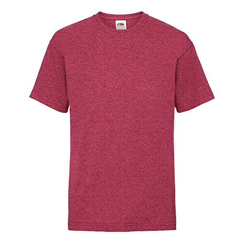 Fruit of the Loom Kinder T-Shirt Valueweight T Kids 61-033-0 Vintage Heather Red 152 (12-13)
