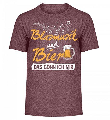 Camicie Da Uomo Di Alta Qualità Shirtee - Camicia Blasmusik · Strumenti Musicali · Abbigliamento Da Club Musicale · Idea Regalo Per Musicista · Motivo / Detto Burgundy Meliert