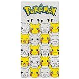 Pokemon 2200002388140x 70cm Gesichter der Pikachu und Badetuch Strandtuch