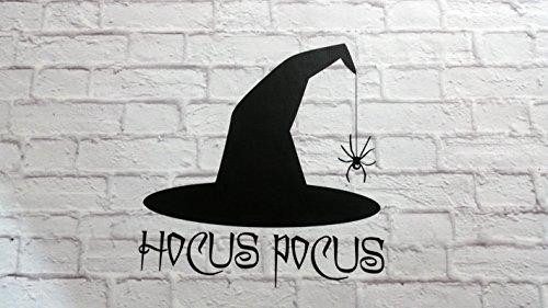43SabrinaGill Halloween Wand Aufkleber Vinyl Wand Aufkleber Hocus Pocus Hexe Hat Wandtattoo für Room Decor 50,8x 50,8cm