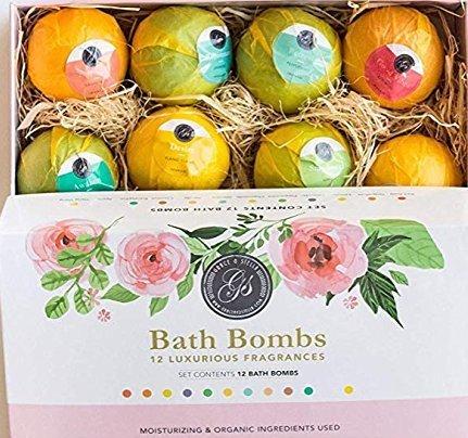 Set Bombas Baño 12 piezas Aceites Esenciales Naturales