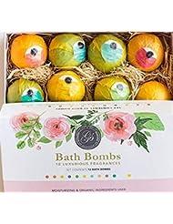 *Nouveau* Bombes de Bain Coffret Cadeau 12 x Boules Effervescentes Bath Bombs Set (120g) - Emballé individuellement - Naturel, biologique et végétalien Huiles essentielles coffret pour le bain, coffret gel douche