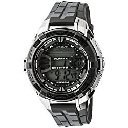 707-200 UphasE-Up Men's Watch Digital Quartz Bracelet, Plastic Black