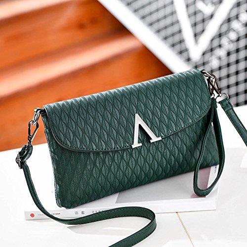 LiZhen Ms. flussi di pacchetti la nuova Europa e il design elegante e il temperamento versatile pacchetto a mano singola Mini borsa a tracolla è un piccolo pacchetto di autunno V-Army green confezione regalo