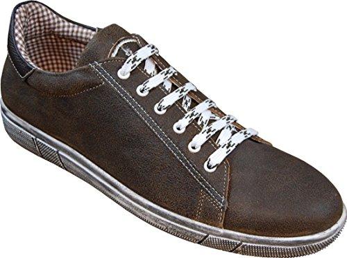MADDOX Trachten Sneaker Siegfried, Größe:46, Farbe:Nappa - Bernstein