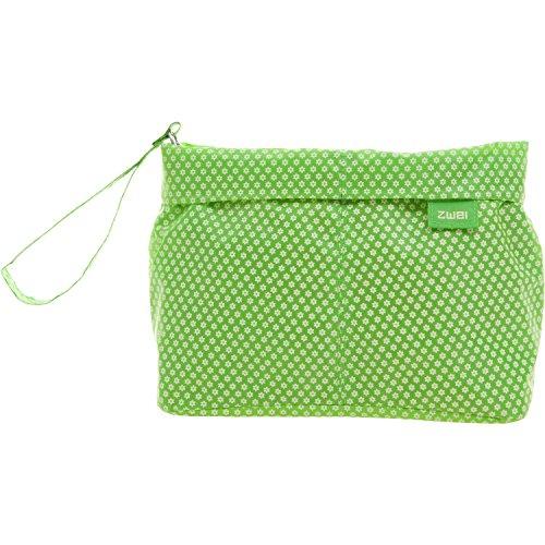 2 Necessaire N2 Borsa Sacchetto 24 cm - ca 28x15x9cm, tessuto, Verde Verde