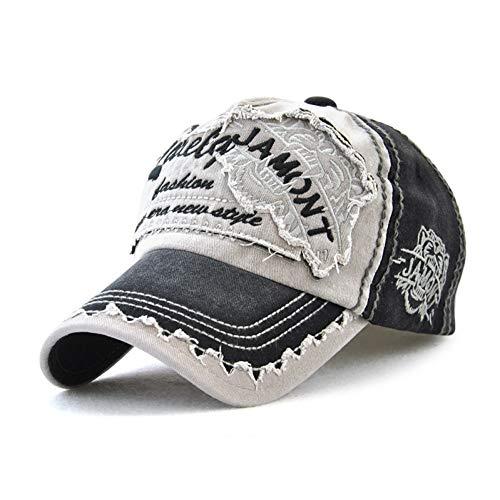 FXSYL Neue Baseballmütze Männer Frauen Hut Caps Cotton Patch Distressed Trucker Hat Unisex Visier,A1 Patch Trucker Hut