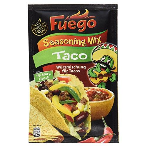 Zutaten Mexikanische Küche (Fuego Taco Seasoning Mix, 35g)